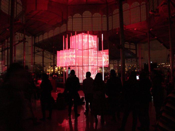 Geocentrica, Escultura aumentada por proyección de luz y sonido 2ch Video / 4ch Sonido 6mx6m, 2014