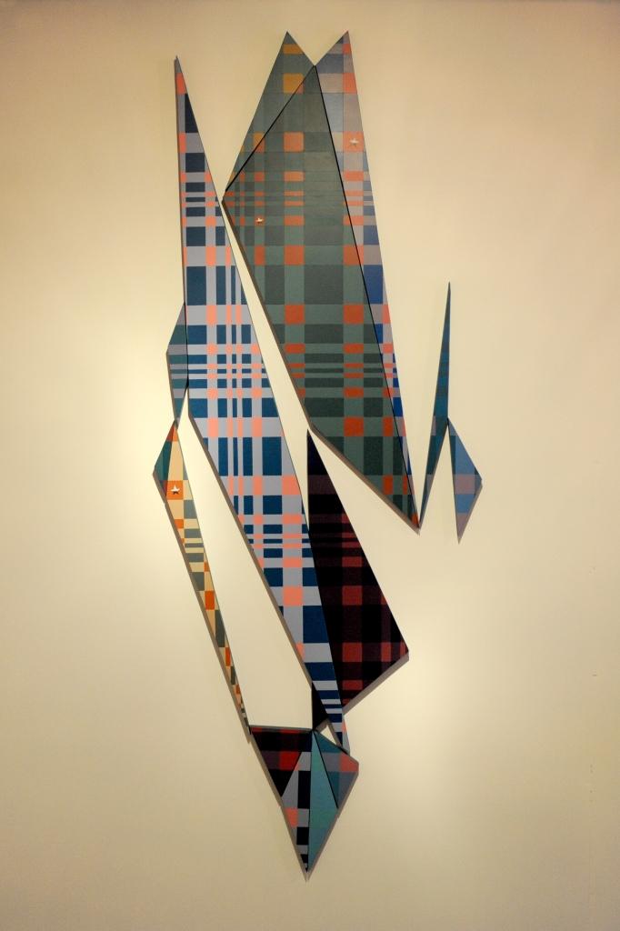 C L S T, Boceto (escala 1:2) Acrílico s/ mdf Políptico: 175 × 65 cm 2014
