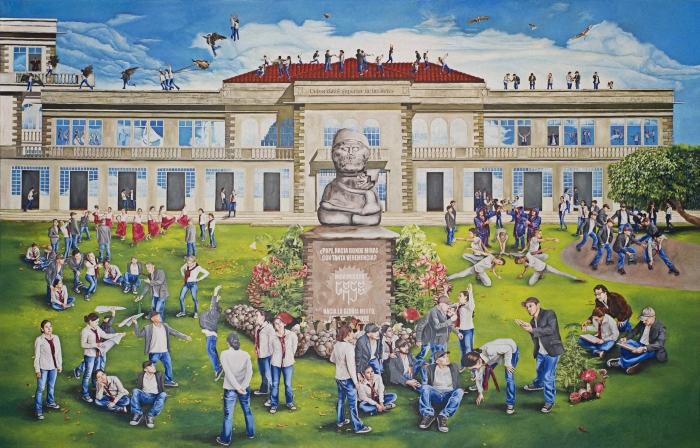 Mural para la Universidad Superior de las Artes Óleo sobre Lienzo 300x190 cmts. 2012