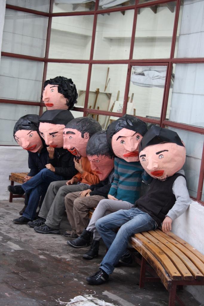 Cabezones Máscaras de papel 2013