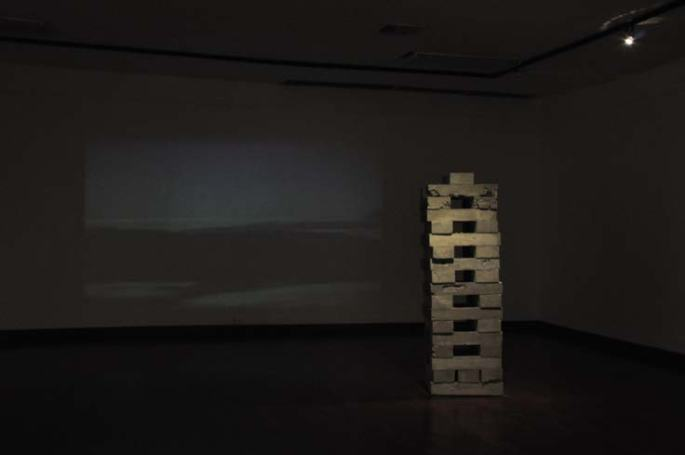 1956, Installation, video remains from the old Guayaquil pier, video, 8´28´´, 2009