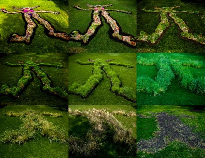 Muñeca Jardín, Intervención en la naturaleza, Puembo, Ecuador. 2011