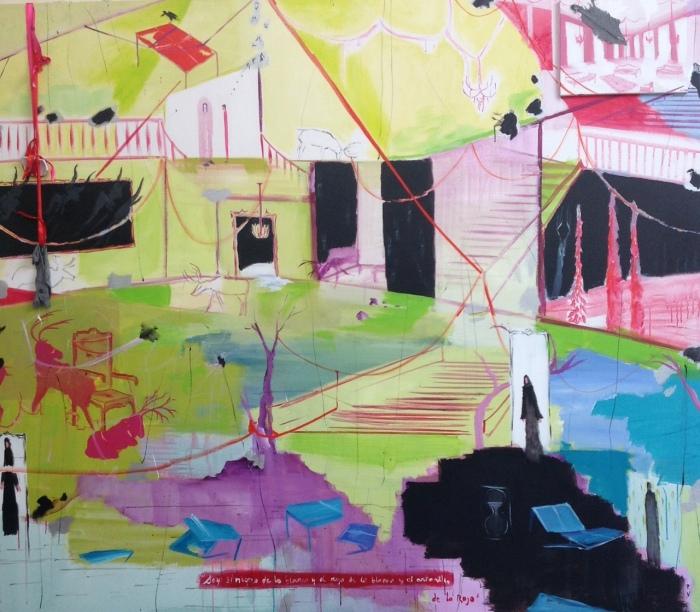 """En la casa de Gehrard Richter"" Óleo sobre lienzo 240x140cm 2011"