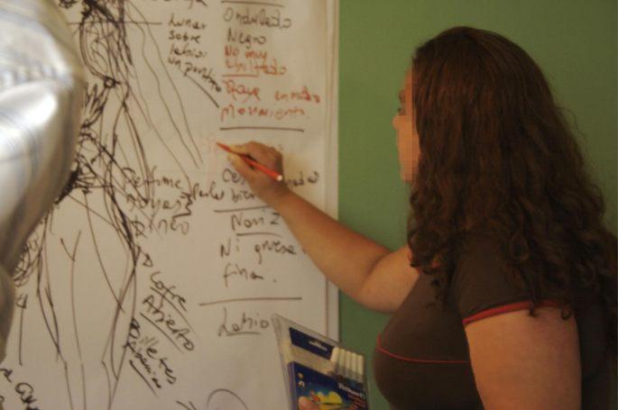 """""""Nuestra Patrona de la Cantera"""" Arte contextual y relacional /inserción de arte en la esfera pública Año: 2008 Evento: VI Encuentro de Arte Urbano """"al zur-ich 2008"""", Quito."""