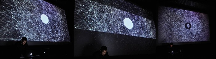 Set audiovisual versión I Pantalla: 4m x 3m Sonido: 2.1 ch. Duración: 10 ~15min Año: 2012
