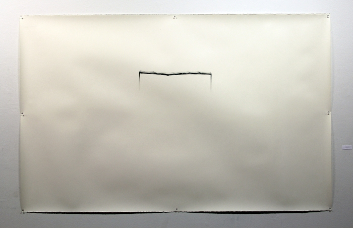 Entre las sombras 2014 Grafito sobre papel 180 x 115 cm Inkjet print 60 x 40 cm