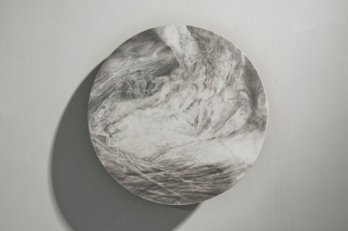 Where the Waters Meet (II) Graphite on marble  /  2013