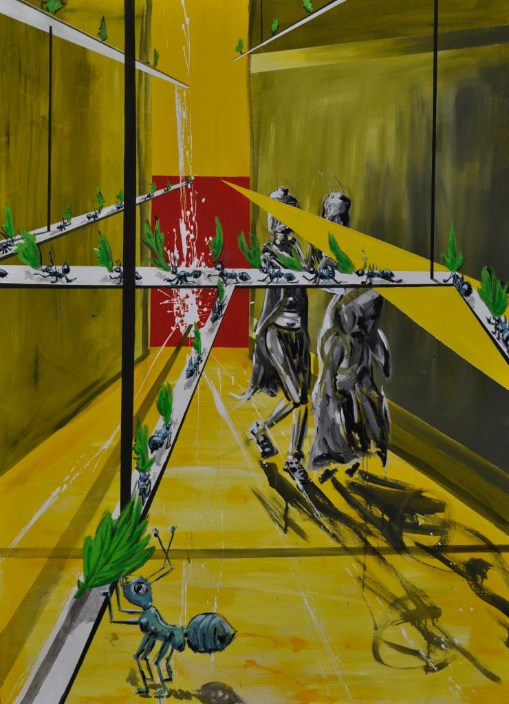 El baile de la Reina Acrílico, látex sobre tela 120 x 200 2014