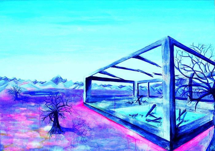 RADIOACTIVIDAD. Situación fuera de control Acrílico sobre lienzo 140 x 100 cm 2013