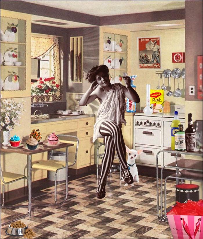 Kitschen, collage digital, 2013