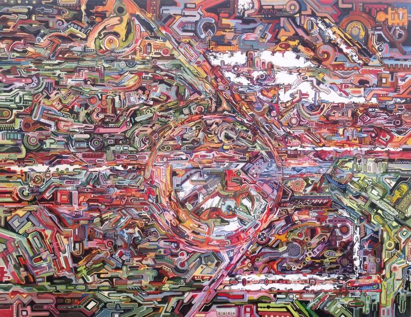Electroencefalograma de Gursky  Técnica: Acrílico sobre tabla  Dimensiones: 90 x 120 cm  Año: 2013